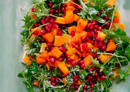 Squash and Pomegranate Salad